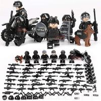 SWAT Soldiers 6-Pack with Weapons, Bike, Shields & Dog $22.90