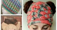 "Messy Bun Hat Phenomenon �€"" 10 Free crochet patterns 