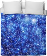 Blue Starry Night Duvet Cover $120.00