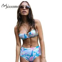 Vogue Sexy Printed Slimming High Waisted Floral Underpant Swimsuit Bikini - Bonny YZOZO Boutique Store