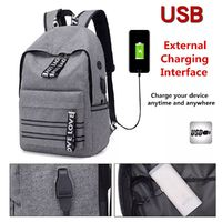 20L USB Shoulder Backpack Reflective Rucksack 15.6inch Laptop Bag With Earphone Hole Men Women Outdoor Travel