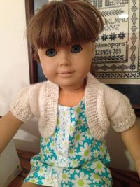 """18"""" doll bolero jacket Made for my granddaughter for Christmas. Free pattern from mymomknits.com"""
