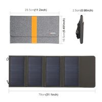 HWL2744 21W 5V/2.9A Solar Panel Charge Folding Bag Dual USB Outdoor Working