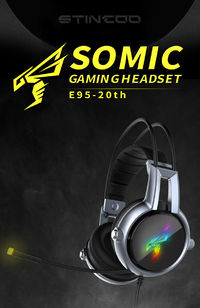 Somic E95-20TH Gamer Headset Virtual 7.1 Stereo Gaming Headphones Vibration Earphone headphone with Microphone for PC Computer