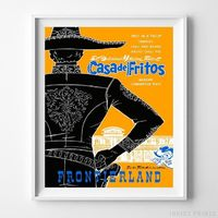 Disneyland Casa de Fritos Print by Inkist Prints - Available at https://www.inkistprints.com