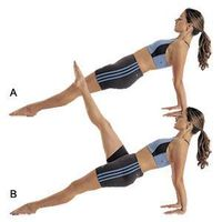 Build a strong core: reverse plank with leg raise abs exercise