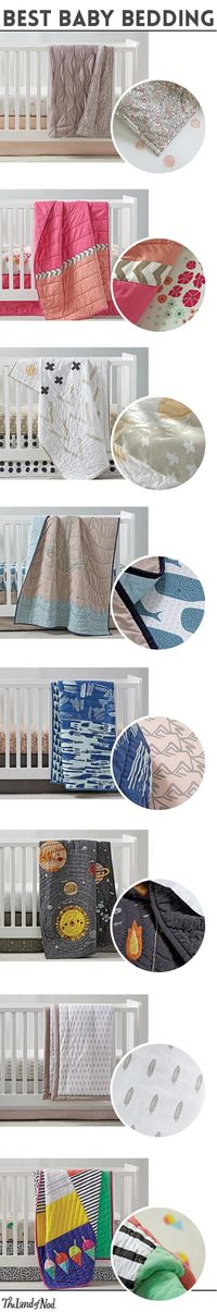 Create the coziest nursery for your little ones with amazing crib bedding sets. The Land of Nod's newest bedding essentials feature the comfiest cotton and prints exclusively designed for us by artists. From neutral designs and animal motifs to flor...