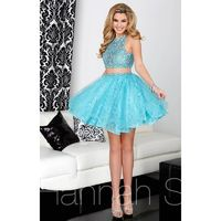 Blue/Multi Hannah S 27015 - 2-piece Short Dress - Customize Your Prom Dress