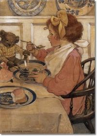 Beautiful!!!! Jessie Willcox Smith - Then The Epicure 1908 Approximate Original Size - 22x16 Painting