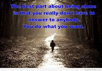 Alone kid image with quote