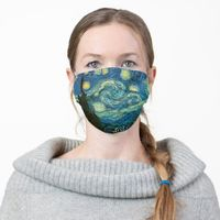 Van Gogh Starry Night Cloth Face Mask