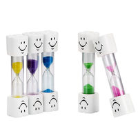 3 Minutes Hourglass Sand Timer Clock. Different Colours Egg Timer. Countdown For Brushing Kids Teeth £8.89