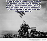 Famous war picture with quote