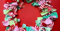 I found this adorable fabric scrap wreath from One More Moore's blog post she created back in November 2010. I thought this craft would be the perfect idea to a