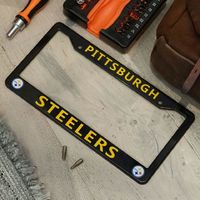 "Pittsburgh Steelers License Plate Frame Cover �€"" Black - NFL Car Accessory - Slim Design $19.99"