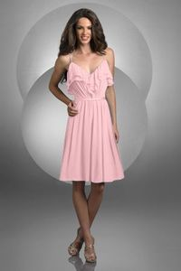 Style 418: Bridesmaids, Prom, Special Occasion & Evening: Bari Jay and Shimmer *has multiple shades of pink