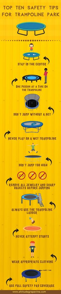 Top Ten Safety Tips for Trampoline Park