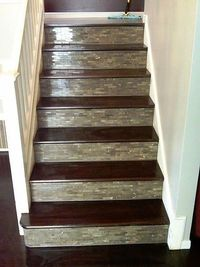 tiled stairs....looks super cool