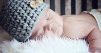 Cute gray hat for baby pictures