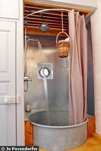 galvanized tub/shower