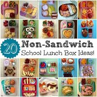 20 Non-Sandwich lunch ideas- written for a kid's lunchbox, but I think lots of these could work.