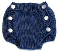 knitting patterns, diaper covers and diapers.