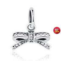 Authentic Pandora Sparkling Bow Pendant Clear CZ 390357CZ, Authentic $55.00