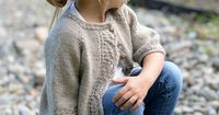 Ravelry: Cove Cardigan pattern by Heidi May ($5.50) 2/3, 4/5, 6/7, 8/9, 10/11 years