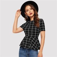Fitted Blouse for Women Summer Short Sleeve $18.00