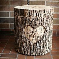 . The inside is carved out for cards. [DIY Wedding Decorations |Women's Health Magazine]