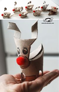 Christmas Deer - Need to translate the page from Bulgarian, but cool tutorial. Perhaps make some for Ruth's Art Teacher who is making them do a bunch of toilet paper roll projects!
