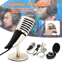 SF-700 Game Microphone Electric Type One-way Personal Vocal Mic for Skype for Youtube for Twitter Webcast
