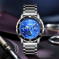 SKMEI 1482 Business Style Stainless Steel Luminous Pointer Quartz Watches Men Wrist Watch