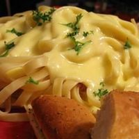 Alfredo Sauce Allrecipes.com-Made this, family loves it! Substituted all parmesan instead of romano.