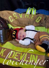 Newborn Baby Firefighter Fireman Hat Outfit, Toasted Almond and Yellow, 4 pc Pant Set w/Suspenders Boots, Photography Prop - MADE TO ORDER on Etsy, $65.00
