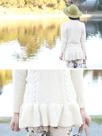 Cable Knit Peplum Sweater - The Bright Color in The Autumn
