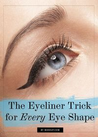 An Easy Eyeliner Trick for Every Eye Shape // #makeup