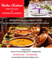 We provide our best catering service in Chandigarh for Corporate (meetings, seminars, Events), Wedding Events, College Events and Fests, Birthday Parties, Kitty Parties and various Other events. Book our services now for great menu by one phone ca...