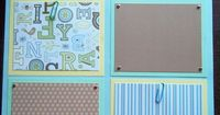 boy scrapbook layouts | Set of 30 12x12 Premade Scrapbook Pages Baby Boy's 1st 12 months made ...