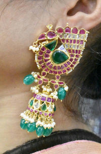 A real ruby handmade beautiful jumka $150.00