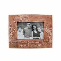 Spanish Family Decorative Clay Look Photo Frame ( Case of 4 ) @The Lavender Lilac