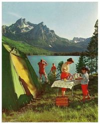 1940's camping