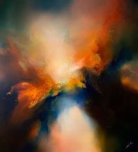 Modern, original large abstract painting 'Blaze' by Simon Kenny $9700.00