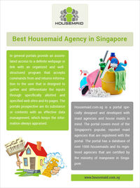 Best Housemaid Agency in Singapore