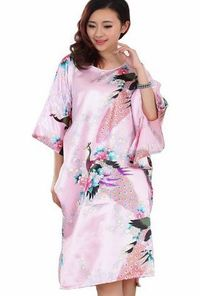 JTC Chinese Silk Peacock Ladies Lingerie Robe Dressing Gown Nightwear Womens Clothing Sleepwear Nightdre Material:Imitation SilkPackage Quantity:1 pc NightdressNightdress for homewear sleepwear Size: Bust:140cm,Length:95cm (Barcode EAN = 0621376499290...