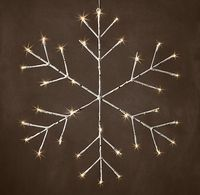 Winter Wonderland Birch Snowflake - Branch - 24""
