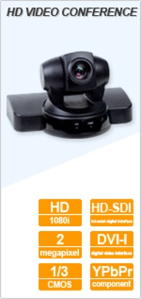 Std Def and HD VC cameras with Sony RS232 control