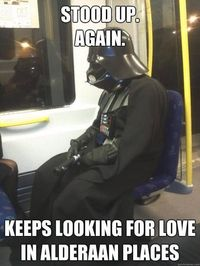 After the Death Star was destroyed, Lord Vader had to travel by more economical means...