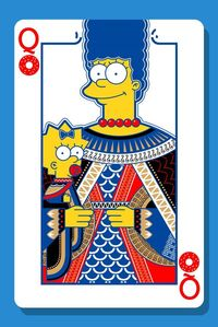the Simpsons card family on Behance