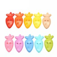 CLEARANCE Pack of 40 Assorted Colours Carrot Radish Buttons 12mm x 25mm Children Clothing £7.19